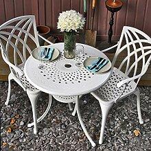 Lazy Susan - Anna 80 cm Runder Gartentisch mit 2