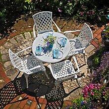 Lazy Susan - Anna 80 cm Runder Gartentisch mit 4