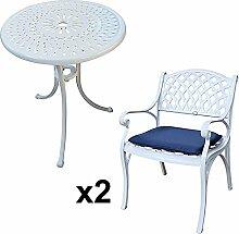 Lazy Susan - EVE 60 cm Bistrotisch mit 2 Stühlen