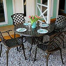 Lazy Susan - Lisa 106 cm Runder Gartentisch mit 4