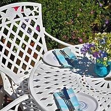 Lazy Susan - MIA 90 cm Runder Gartentisch mit 2