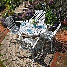 Lazy Susan - MIA 90 cm Runder Gartentisch mit 4