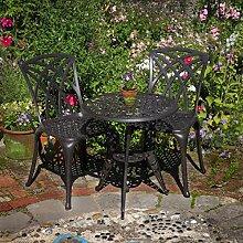 Lazy Susan - Rose Bistrotisch mit 2 Stühlen -