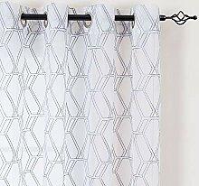 Lazzzy Fenster Gardinen für Schlafzimmer Vorhang