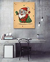 LB 1 Stück Wohnkultur/Fröhliche Weihnachten/HD Drucken auf Leinwand Wandkunst Bild für Wohnzimmer,mit Rahmen,bereit zu hängen
