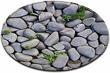 LB 3D-Effekt grüne Pflanze Blätter Stein grau