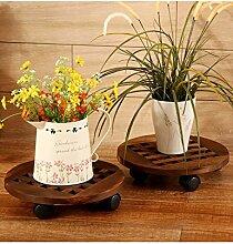 LB Bewegen Sie das Blumenregal Holz Rundboden mit