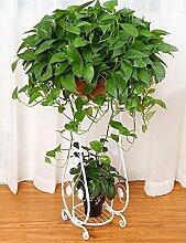 LB Blumen-Regal im europäischen Stil Iron Floor zweistöckigen Blumentopf Shelf Indoor-und Outdoor-Pflanze Regale Montage Blumentopf Regal