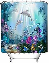LB Delphin Duschvorhang, Fisch Bunte Koralle im