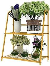LB Eisen Blume Rack Pastoral Zwei Schichten Wohnzimmer Balkon Blumentopf Blumenregal Montage Blumentopf Regal ( farbe : A )