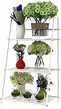 LB Eisen Blume Rack Sukkulente Pflanzen Blume Rack Balkon Blume Topf Blume Rack Multilayer Leiter Blume Rack Montage Blumentopf Regal ( farbe : B )
