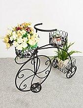 LB Europäische Originalität Iron Fahrrad Blume Rack Einfache Multilayer Leiter Blume Rack Balkon Boden Pflanzer Regal Einfache Moderne Wohnzimmer Indoor Flower Rack Montage Blumentopf Regal ( farbe : B )