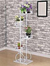 LB Europäische - Stil Eisen kreative Blumentopf Regal Balkon Wohnzimmer Blumen Töpfe Rack Montage Blumentopf Regal