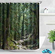 LB Forest Scenery Foto Duschvorhang für