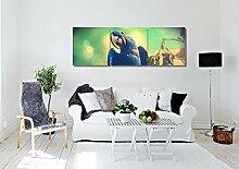 LB Foto/Bild Druck auf Leinwand,Ölgemälde Leinwand Wandkunst/Vögel - Blauer Papagei/Zuhause Dekoration,3 Stück Wand Dekor,40 cm x 40 cm,Mit Rahmen,Fertig Zum Aufhängen