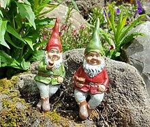 LB H&F 2 Stück Lustige Gartenzwerge Duo Zwerg Set