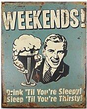 LB H&F Blechschild Blech Schild Bier (1) Week