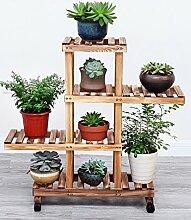 LB Massivholz Blumenregal Balkon Indoor Multilayer Blumentopf Blumenregal Regal Topfpflanzen Blumenregal Montage Blumentopf Regal ( farbe : 1# , größe : D )