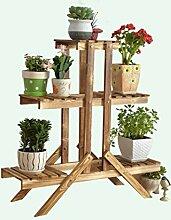 LB Pergolen aus Holz, Blumenmehrschichtholz , Holz im Erdgeschoss Spinne Blumentopf montiert Montage Blumentopf Regal ( größe : C1 )