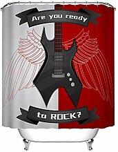 LB Rock Thema E-Gitarre Duschvorhang für