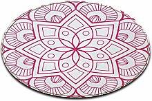 LB Round Area Rug Spielmatte, Indien Mandala