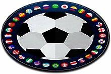 LB Runde Fläche Teppich Spielmatte, WM Fußball,