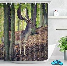 LB Wald Tier Landschaft Foto Duschvorhang für