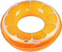 LBAFS Schwimmring Kinder Erwachsene Orangenmuster Rettungsring Baby Schwimmen Achselhöhle,B3