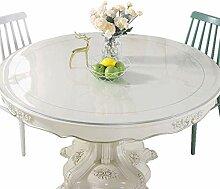 LBBGM Runde Tischdecke Esszimmertisch Transparent