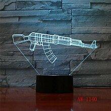 LBMTFFFFFF Lampe Nachtlicht 3D Illusion Lampe Led