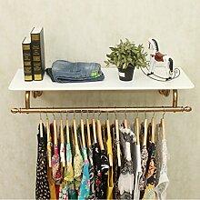 LBMy Edelstahl-Bekleidungsgeschäft Display-Stand auf der Wand Seite hängende Frauen Shop Dekoration Rack Hanging Racks Kleiderständer (Farbe : A, größe : 12cm)