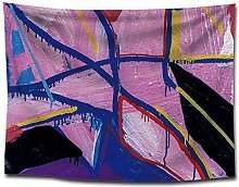 lbonb Tapisserie Wandbehang Abstrakte Kunst Bild