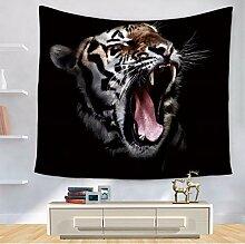 lbonb Tier Wandteppich Tiger Polyester Wandbehang