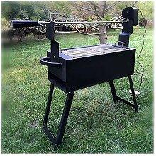 LBS Holzkohle Bonfire Tisch Grill Lammkeule Grill