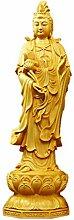 LBYLYH Hand geschnitzt aus Buchsbaum Statue aus