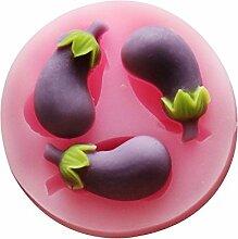 LC aubergine x521Silikon Fondant Form Kuchen