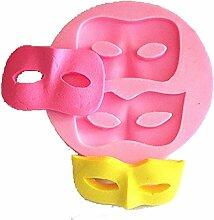 LC Blinder Maske x1009Silikon Fondant Form Kuchen Form Schokolade Backen Sugarcraft Dekorieren Werkzeuge
