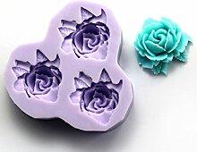 LC Blumen X075Silikon Fondant Form Kuchen Form Schokolade Backen Sugarcraft Dekorieren Werkzeuge