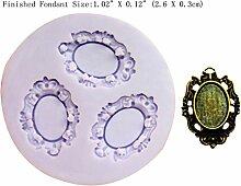 LC Classic Spiegel Form X 174cm Silikon Fondant Form Kuchen Form Schokolade Backen Sugarcraft Dekorieren Werkzeuge