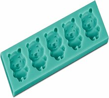 LC Cute Bears x1125Silikon Fondant Form Kuchen