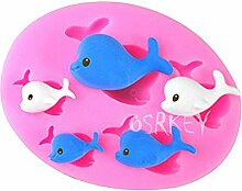 LC Fisch x1159Silikon Fondant Form Kuchen Form