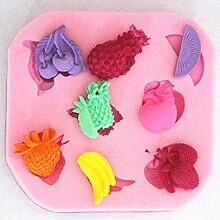 LC Fruit X1077Silikon Fondant Form Kuchen Form