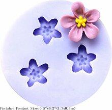 LC Fünf geformte Cute Blumen Ring aus Silikon Fondant Form Kuchen Form Schokolade Backen Sugarcraft Dekorieren Werkzeuge