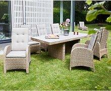 LC Garden Vigo Gartenmöbel-Set 7-tlg. Tisch