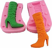 LC High Heels Boots X1017Silikon Fondant Form Kuchen Form Schokolade Backen Sugarcraft Dekorieren Werkzeuge