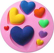 LC Love Herz X1023Silikon Fondant Form Kuchen Form Schokolade Backen Sugarcraft Dekorieren Werkzeuge