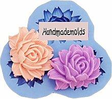LC Nice Blumen X059Silikon Fondant Form Kuchen