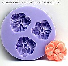 LC Nice Blumen X067Silikon Fondant Form Kuchen