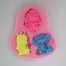 LC Schöne Mädchen x1103Silikon Fondant Form Kuchen Form Schokolade Backen Sugarcraft Dekorieren Werkzeuge