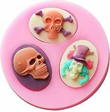 LC Skull X497Silikon Fondant Form Kuchen Form Schokolade Backen Sugarcraft Dekorieren Werkzeuge